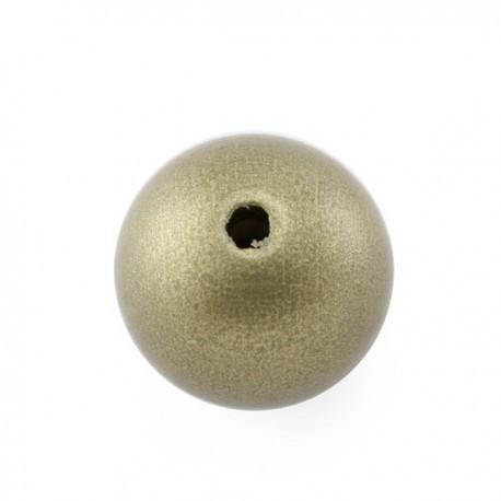 Perle en bois or 15MM