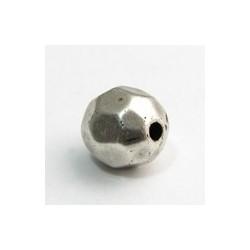 Perles Métal Rondes Facettées 12mm