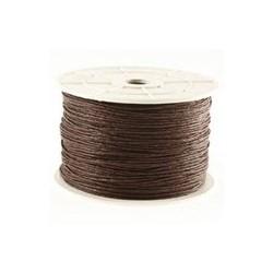 Coton ciré brun foncé 1mm / 1M