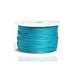 Coton ciré Turquoise foncé 1mm / 1M