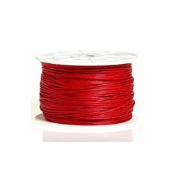 Coton ciré rouge 2mm / 1M