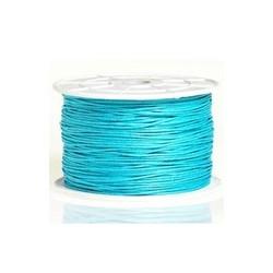 Coton ciré turquoise 2mm / 1M