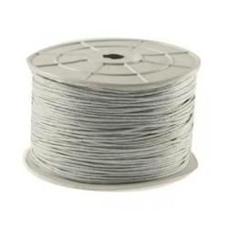 Bobine coton ciré gris clair 1mm