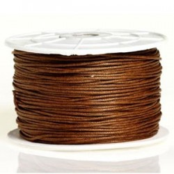 Coton ciré brun moyen 2mm / 1M