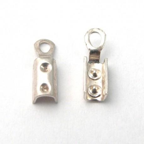 Paire de pinces lacet 6mm Argent 925