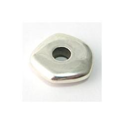 Perle argenté roue irregulier.lis. 20X4MM