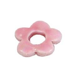 Donuts fleur 24mm rose bonbon