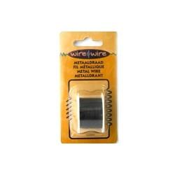 Bobine Fil métallique noir 22 gauge-0.70MM