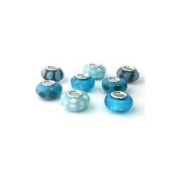 Série de 8 perles dans la game des bleus