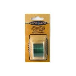 Bobine Fil métallique vert 22 gauge-0.70MM