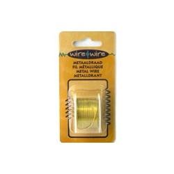 Bobine Fil métallique doré 18 gauge-1.20MM
