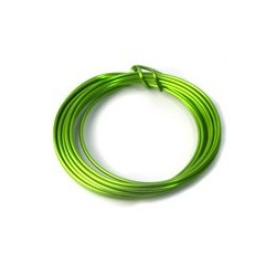 Fil aluminium vert lime 2mm/ 3M