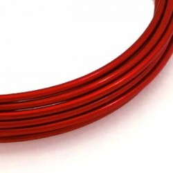Fil aluminium rouge 2mm/ 3M