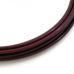 Fil aluminium mauve aubergine 2mm/ 3M