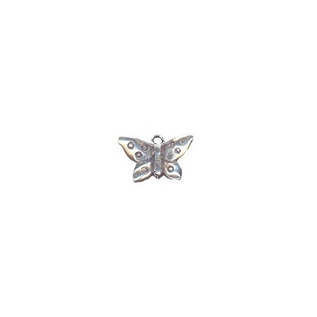 Pendentif papillon métal 20x14mm