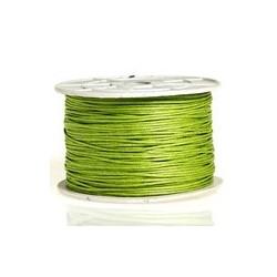 Coton ciré vert pomme 2mm / 1M