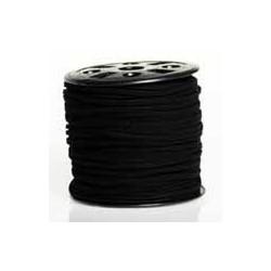 Lanière daim artificielle noir / 1m