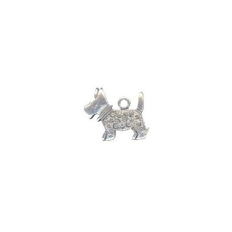 Pendentif chien métal 20x17mm