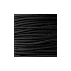 Cordon élastique 2mm Noir /50cm