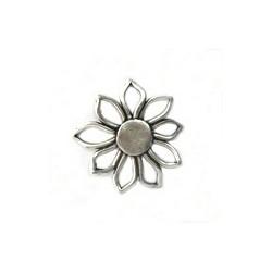 Fleur vieil argent 55mm