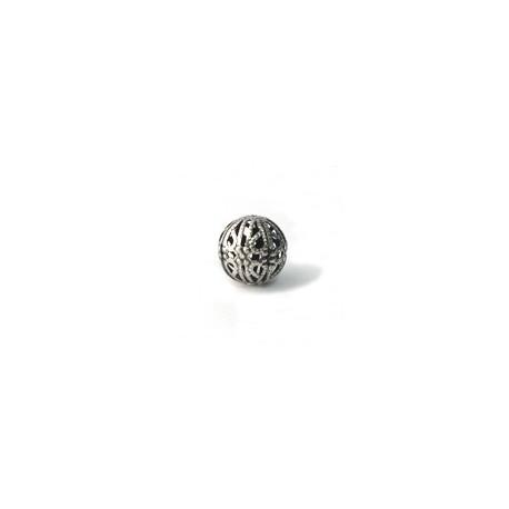 Perle boule métal filigrane 16mm