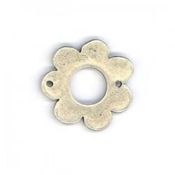 Anneau métal fleur 30mm