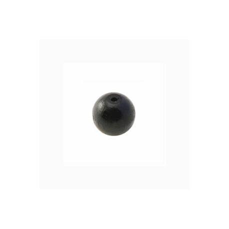 Perle en bois 8mm Noir