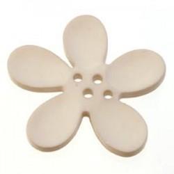 Orchidee résine 4 trous 40mm Gris Clair